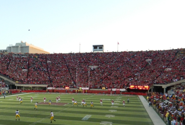 Kickoff after Huskers had taken a 31-0 lead in the third quarter.