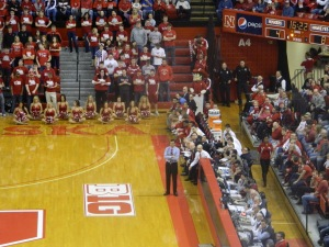 Tim Miles watches over his team.