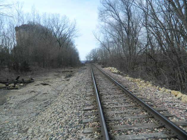 Railroad on the Mississippi in the Mines of Spain near Dubuque